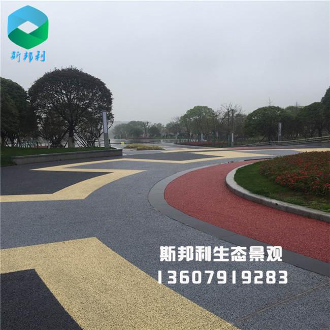 江西萍乡玉湖公园生态透水混凝土施工效果图